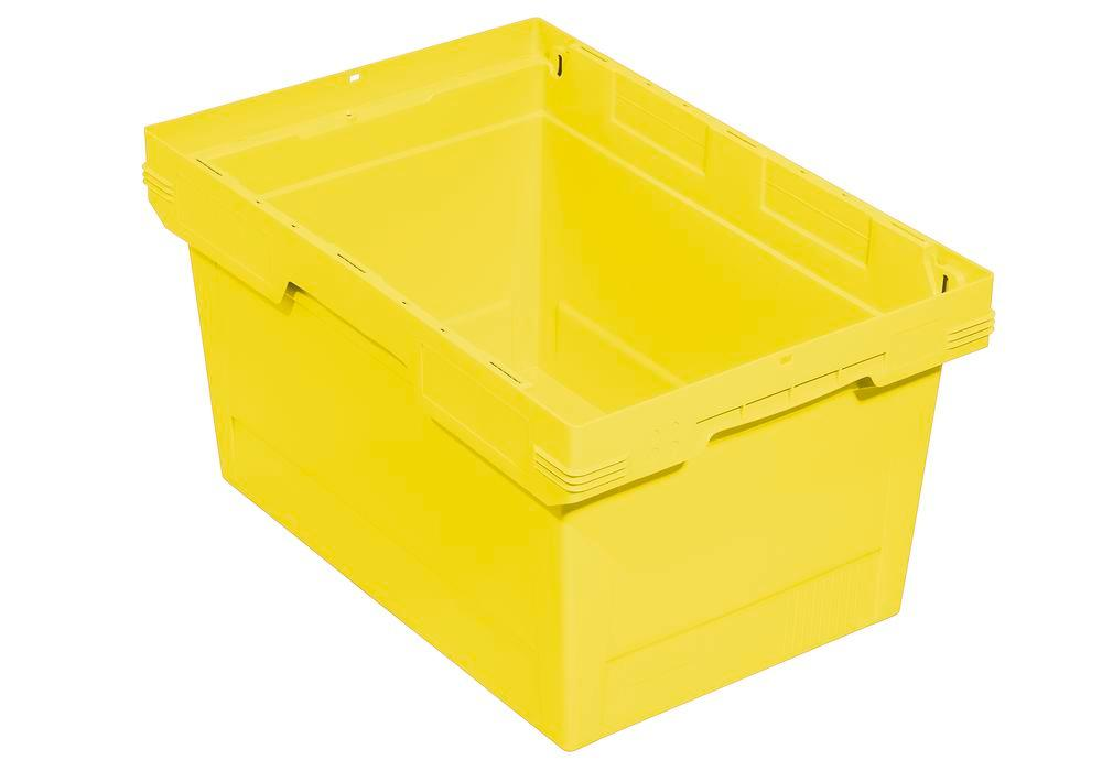 Bac gerbable multi-usage classic-line D, 600 x 400 x 323 mm, jaune, UV = 2 pcs