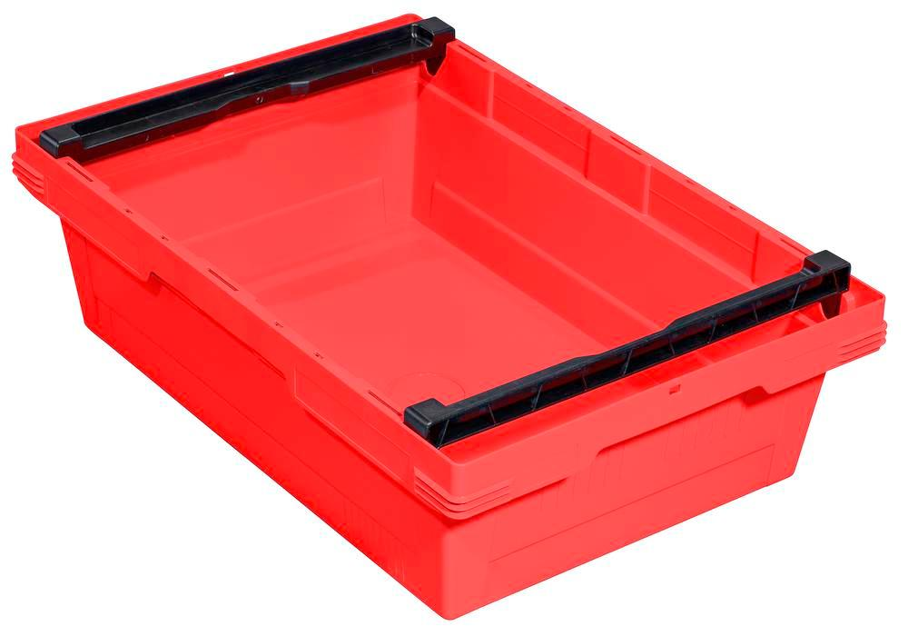 Bac gerbable multi-usage classic-line D, arceau d'empilage, 600 x 400 x 173 mm, rouge, UV = 3 pcs