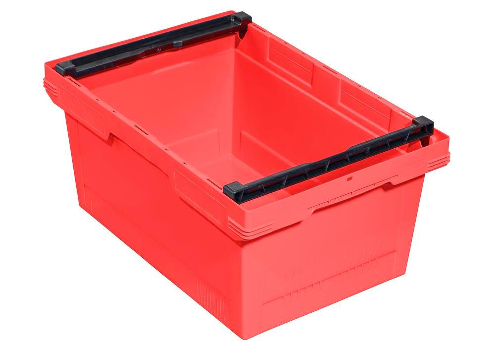 Bac gerbable multi-usage classic-line D, arceau d'empilage, 600 x 400 x 273 mm, rouge, UV = 3 pcs