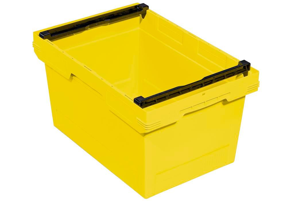 Bac gerbable multi-usage classic-line D, arceau d'empilage, 600 x 400 x 323 mm, jaune, UV = 2 pcs