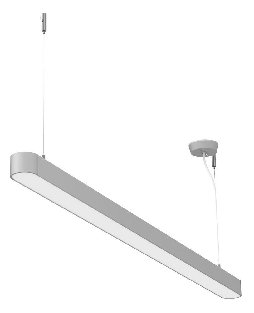 Plafonnier LED, Straight, argent, 37 W
