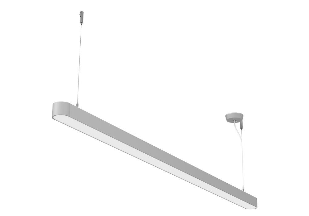 Plafonnier LED, Straight, argent, 45 W