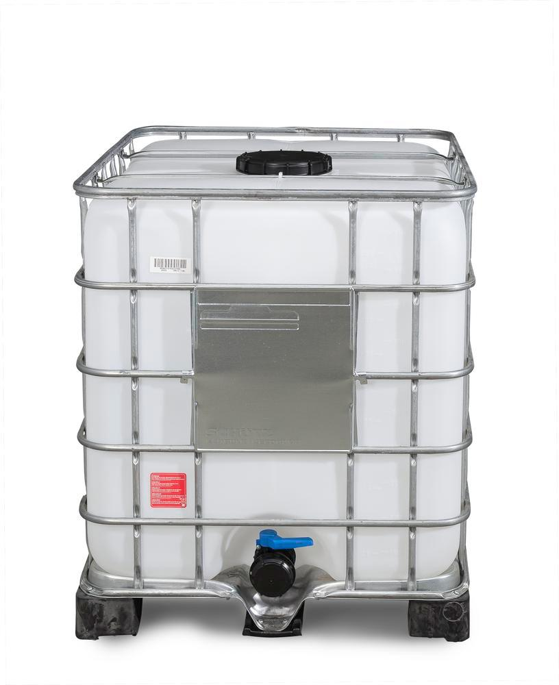 Cuve Recobulk IBC, palette PE, 1000 litres, ouverture NW 225, sortie NW 80
