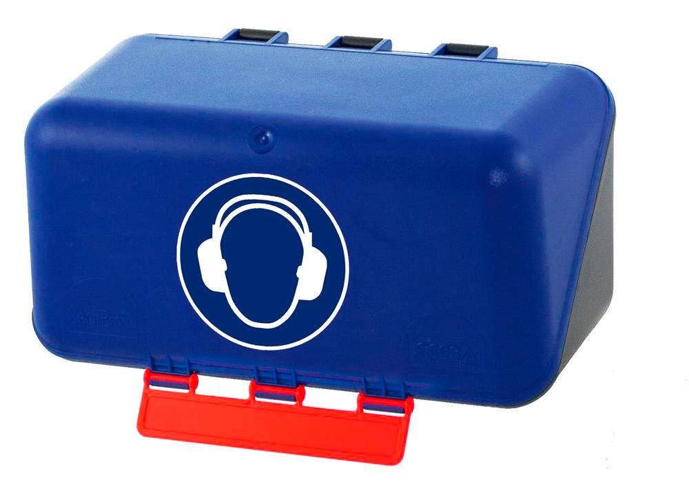 MiniBox pour protections auditives, bleu