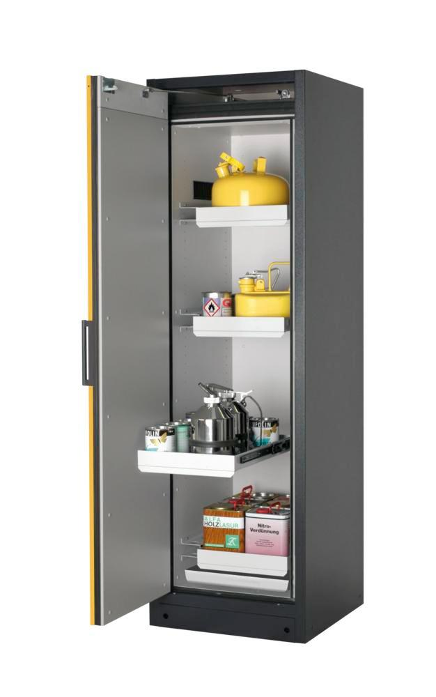 Armoire Select W64L-O, charnières à gauche, corps anthracite, porte jaune ONE-Touch