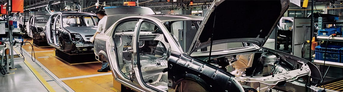 Chaîne de production dans l'industrie automobile